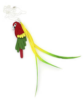 Necklace Parrot red-green