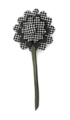 Brooch Flower Check L