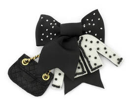 Brooch Coco Dots Pearl black