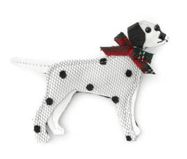 Brooch Dalmatien Bow red