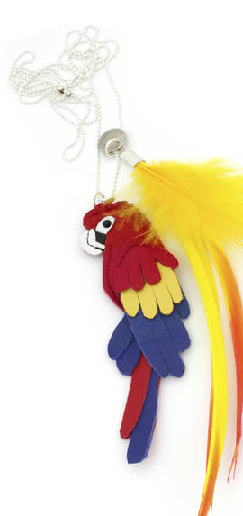 Necklace Parrot red-blue