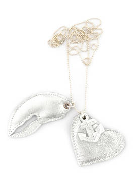 Necklace Hope Love Faith revisted silver