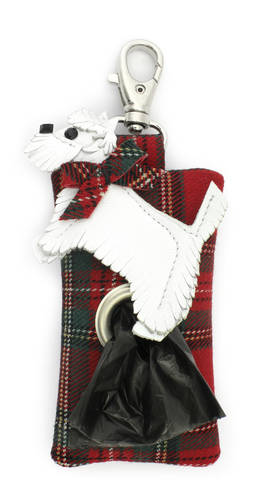 Poobag Tartan Scotch Dog red-white