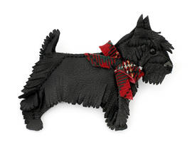 Brooch Scotch Dog black