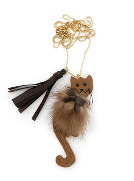 Necklace Cat brown