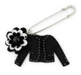 Kiltbrooch Coco Pearl all black