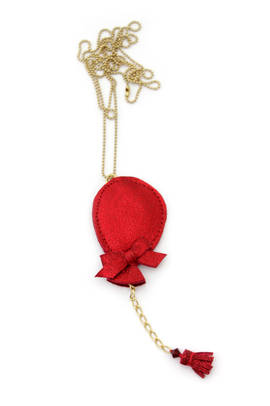 Necklace Balloon red metallic
