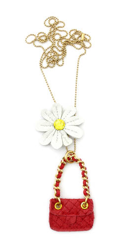 Necklace Coco Daisy red