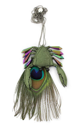 Necklace Crabe Peacock