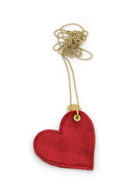 Necklace Love red metallic