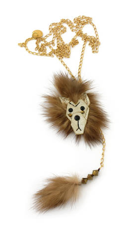 Necklace Lion brown