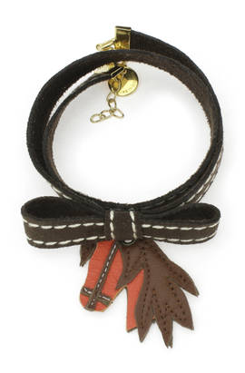 Bracelet Horse brown-orange